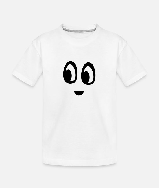 Mood T-Shirts - Funny face - Teenager Organic T-Shirt white