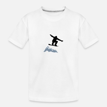 Boarder snowboarder jump mountain - Teenager Bio T-Shirt