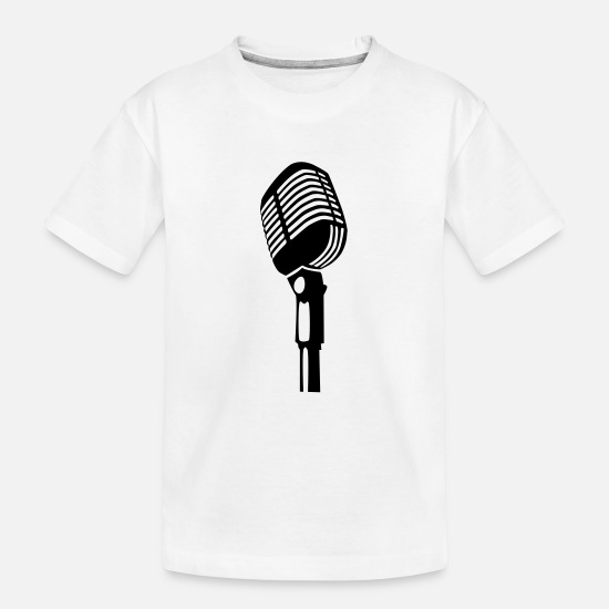 Microphone T-Shirts - vintage microphone - Teenager Organic T-Shirt white