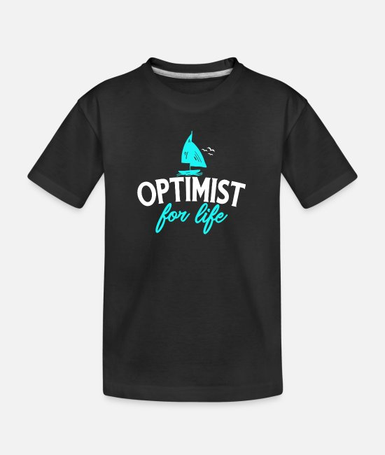 Aquatics T-Shirts - Sailing - Optimist For Life Design for sailors - Teenager Organic T-Shirt black