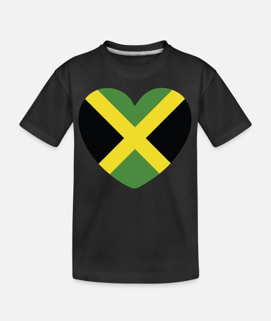 English T-Shirts - COOL JAMAICA FLAG DESIGN - Teenager Organic T-Shirt black