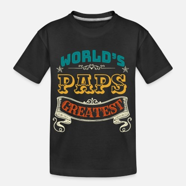 Bester Paps WORLDS GREATEST PAPS - Teenager Bio T-Shirt