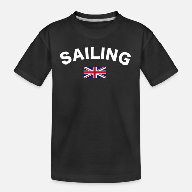 Gb Sailing logo White - Teenager Organic T-Shirt