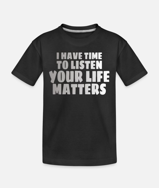 Mental T-Shirts - MENTAL HEALTH AWARENESS: Life Matters - Teenager Organic T-Shirt black
