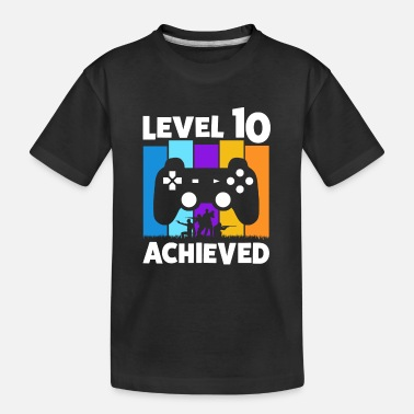 Console 10TH BIRTHDAY LEVEL 10 ACHIEVED GAMER GIFT - Teenager Organic T-Shirt
