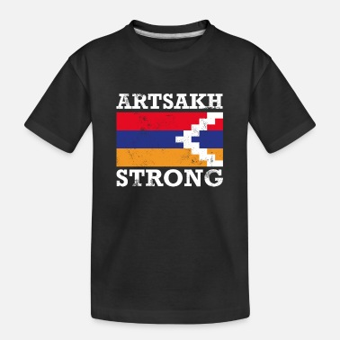 Artsakh Strong - Artsakh Armenia Support - Vlag - Teenager biologisch T-shirt