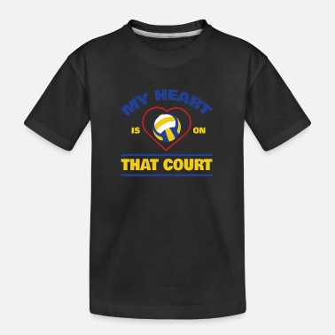 Volleyball Player Cute Volleyball Court Apparel - Teenager Organic T-Shirt