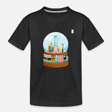 Charade New York Broadway Snow Globe Funny Gift - Teenager Organic T-Shirt