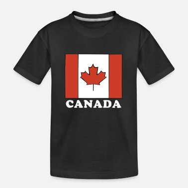 Proud Canada Flag Canadian Flag - Teenager Organic T-Shirt