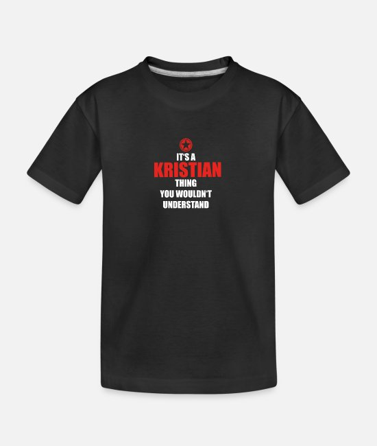 Geburtstag T-Shirts - Geschenk it s a thing birthday understand KRISTIAN - Teenager Bio T-Shirt Schwarz