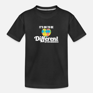 Its Cute It's OK To Be Different Autism Awareness - Teenager Organic T-Shirt