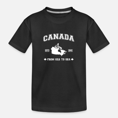 Canada map - Teenager Organic T-Shirt