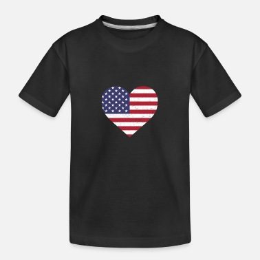 Federal Reserve USA Flag Shirt Heart - American Shirt - Teenager Organic T-Shirt