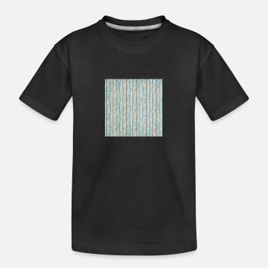 Strand By the Sea Wood Neck Gator Blue Veritcal Beachy - Teenager T-shirt økologisk