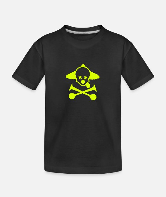Hupen T-Shirts - totenkopf clown - Teenager Bio T-Shirt Schwarz