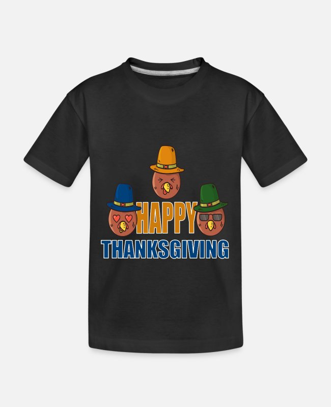 Fest T-shirts - Thanksgiving ferie festdag mindedag æresdag - Teenager T-shirt økologisk sort
