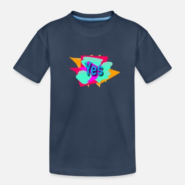 graffity yes lettering word - Teenager Organic T-Shirt