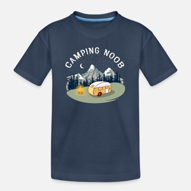Lustige Sprüche Camping Noob, Newbie, Camper, RV, Mountain - Teenager Bio T-Shirt