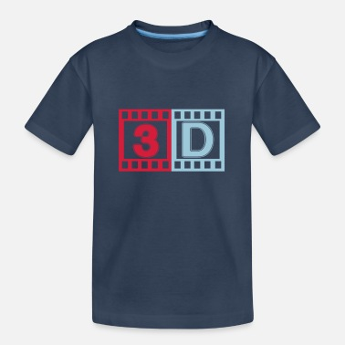 3d 3D - Teenager Organic T-Shirt