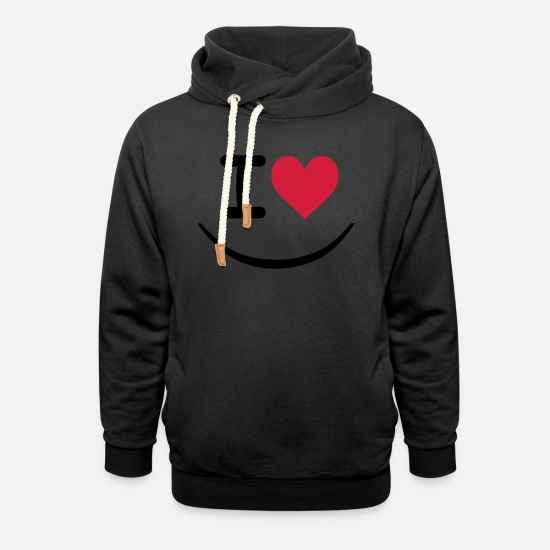 Love Sweat-shirts - I love - Sweat à capuche cache-cou unisexe noir