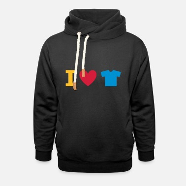 Underwear ★ Design colors changeable ★ I love t-shirts - Unisex Shawl Collar Hoodie