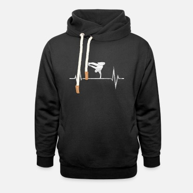 Breakdance Breakdance Breakdancer Hip Hop Heartbeat Gift - Unisex hettegenser med sjalkrage
