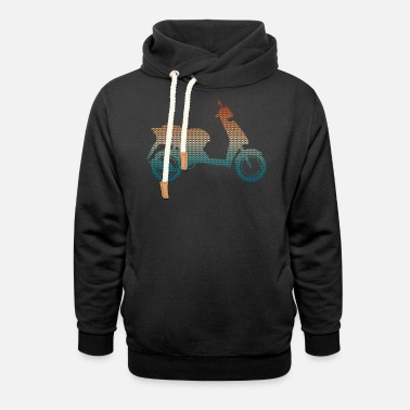 Driving School Roller silhouette made of triangles - vintage color - Unisex Shawl Collar Hoodie