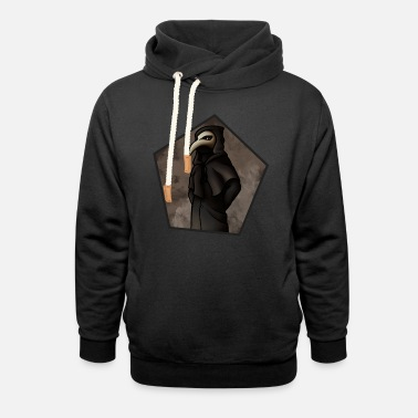 Witch Plague Doctor - Unisex Shawl Collar Hoodie