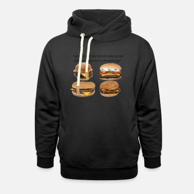 Meme Meme al cheeseburger - Felpa con colletto alto unisex