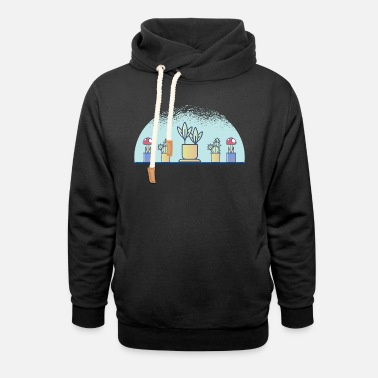 Plant-grounds plants - Unisex Shawl Collar Hoodie