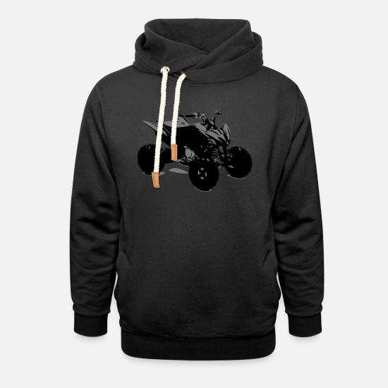 Black Croce Pet Retro Party Potente You Peluche Felpe - moto motorismo quad t shirt - Felpa con colletto alto unisex nero
