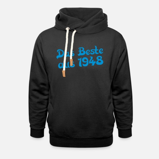 Birthday Hoodies & Sweatshirts - the best of 1948 - Unisex Shawl Collar Hoodie black