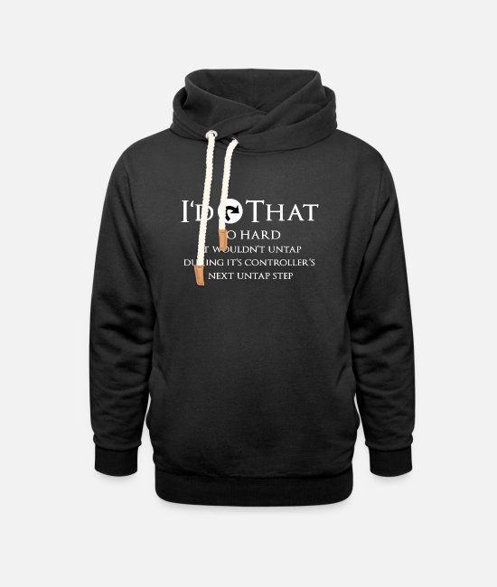 Magic The Gathering Tröjor & hoodies - Magic: The Gathering Tap Effect Gift - Hoodie med sjalkrage unisex svart