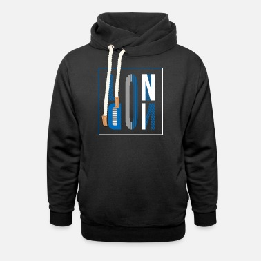 Hipster London - Unisex Shawl Collar Hoodie