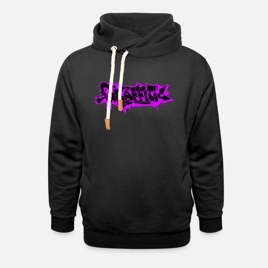 Art Hoodies & Sweatshirts - GRAFFITI - Unisex Shawl Collar Hoodie black