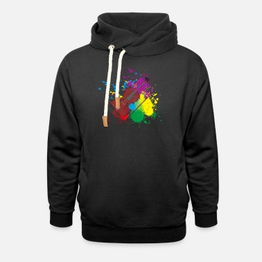 Violin Colored Violin Gift Idea for Violinist - Unisex Shawl Collar Hoodie