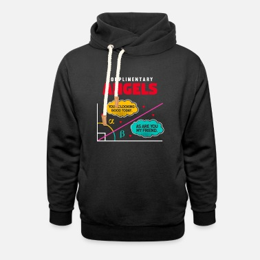 Percentage Calculation Complementary Angles - Math Math Geometry - Unisex Shawl Collar Hoodie