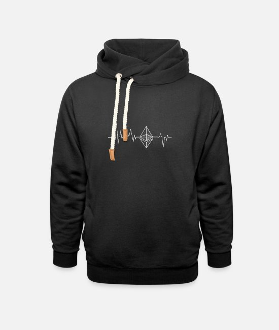 Heartbeat Hoodies & Sweatshirts - Heartbeat - Unisex Shawl Collar Hoodie black
