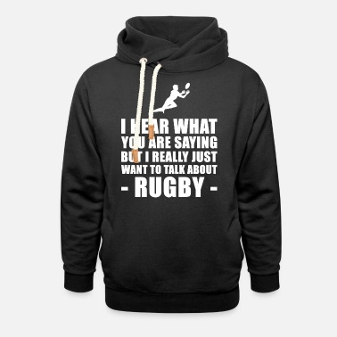 Rugby Funny Rugby Player Gift Idea - Unisex Shawl Collar Hoodie