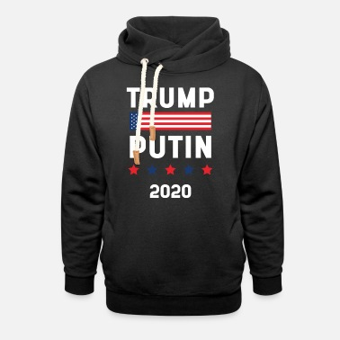 Election Donald Trump President 2020 - USA Flag Gift - Unisex Shawl Collar Hoodie