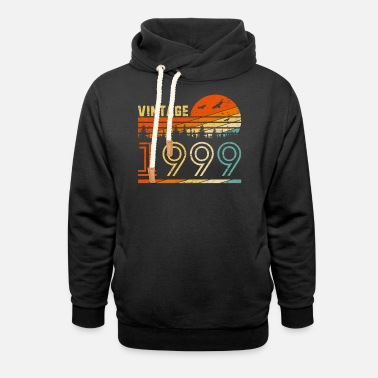 Birthday Vintage 1999 Retro 21st Birthday Gift Fun B-day 21 - Unisex Shawl Collar Hoodie