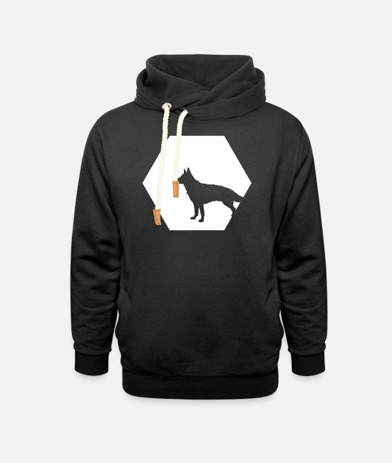 German Shepherd Hoodies & Sweatshirts - Herding dogs herding dog dogs puppy dog Hundi - Unisex Shawl Collar Hoodie black