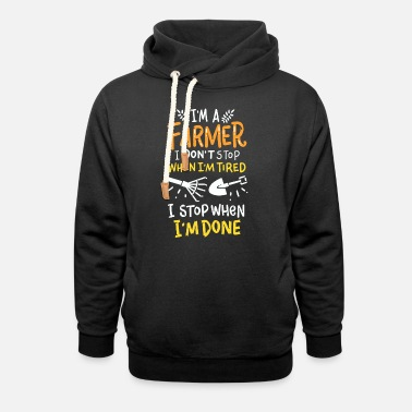 I am farmer gift for farmer gift idea - Unisex Shawl Collar Hoodie
