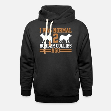 Border Collie Border Collies - Unisex Shawl Collar Hoodie