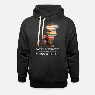 Easily Distracted by Chins & Books | Chinchillas - Unisex Schalkragen Hoodie