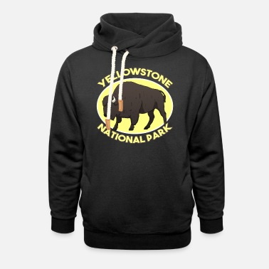 National Park Yellowstone National Park National Park USA bison - Unisex Shawl Collar Hoodie