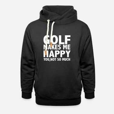 Instrut Golf Makes Me Happy - Unisex Shawl Collar Hoodie