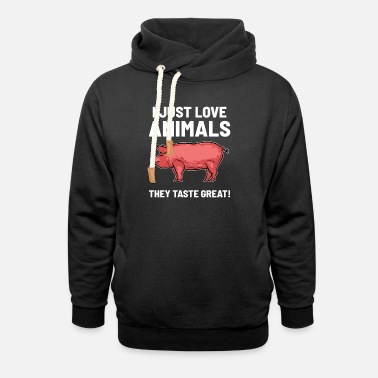 I LoveAnimals - They taste great - Unisex Shawl Collar Hoodie