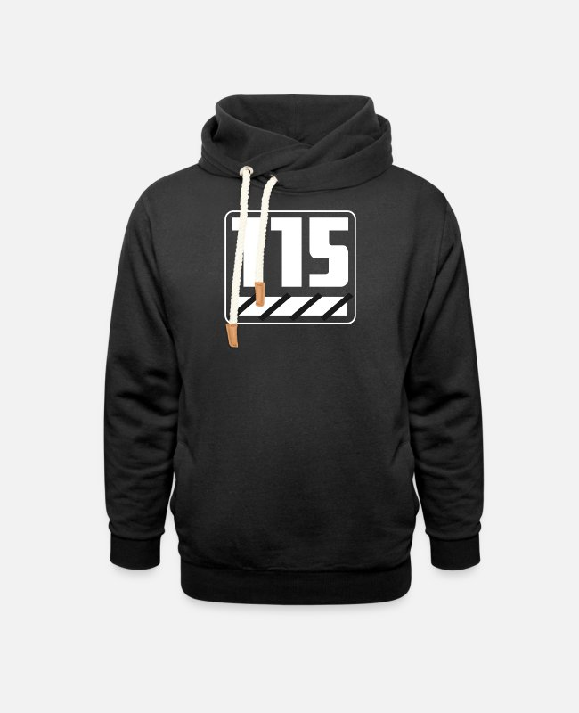 Reminder Hoodies & Sweatshirts - 115 years - Unisex Shawl Collar Hoodie black