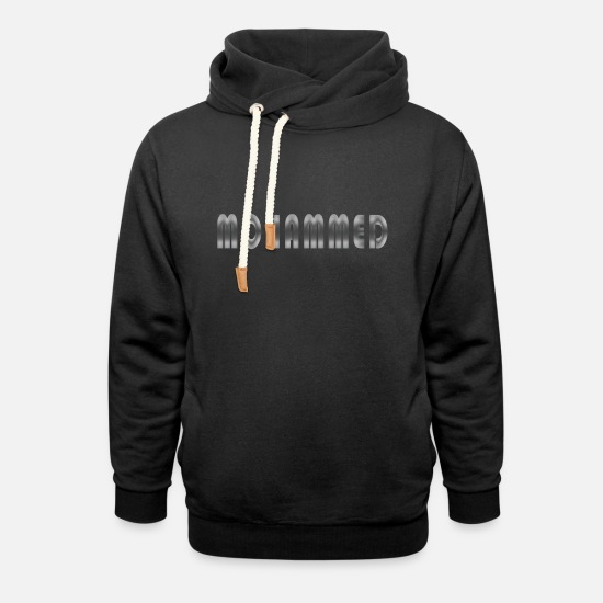 Birthday Hoodies & Sweatshirts - Name Mohammed name day gift man first name - Unisex Shawl Collar Hoodie black